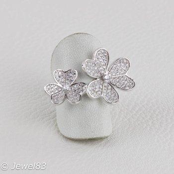 925e Multi flower ring