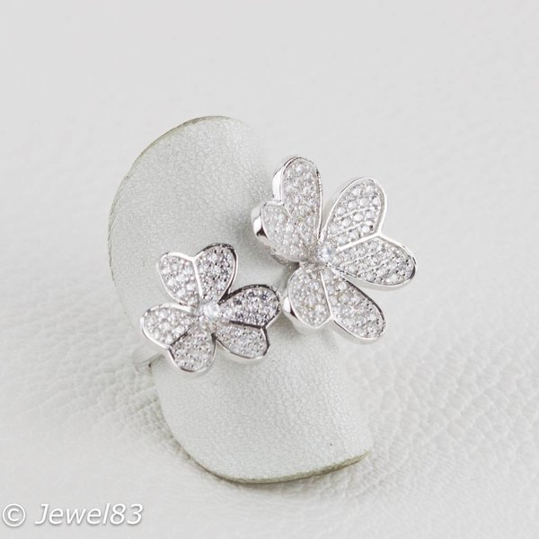 925e Multi flower ring