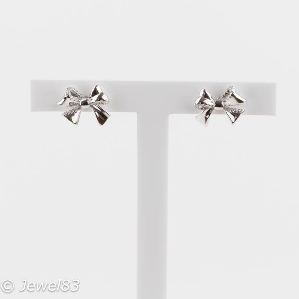 925e Bow earrings