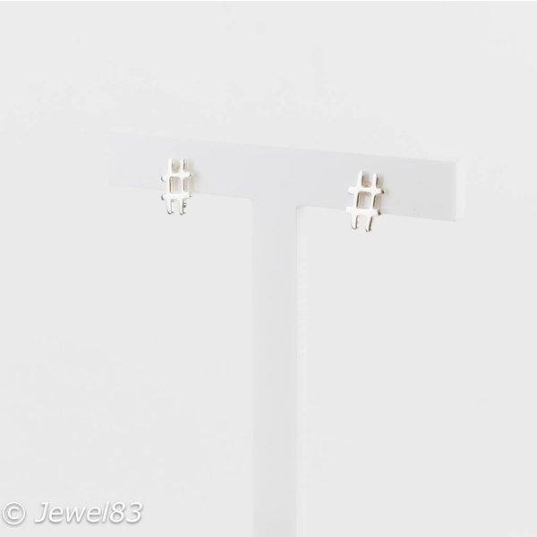 925e Hashtag earrings