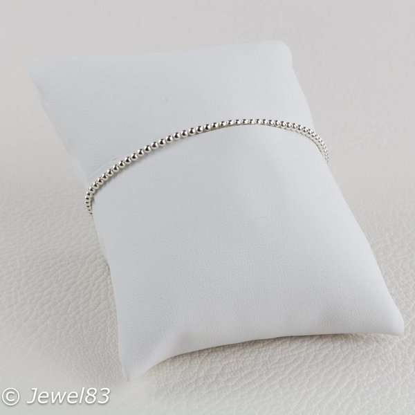 925e Silver bead bracelet