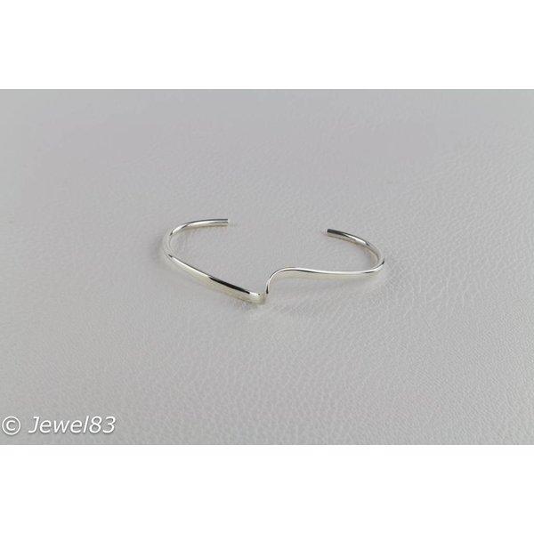 925e Silver open bracelet