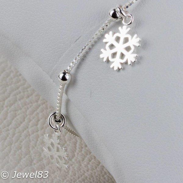 925e Silver snowflake bracelet