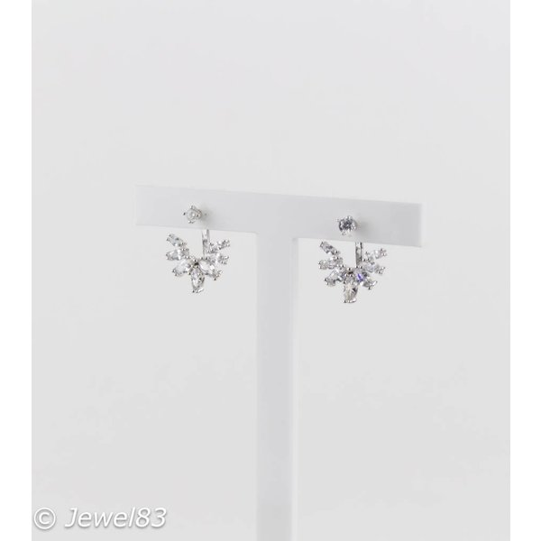 925e Crystal silver earrings