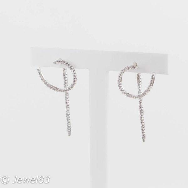 925e Crystal 2 piece earrings