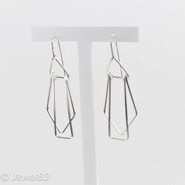 925e Cubism earrings
