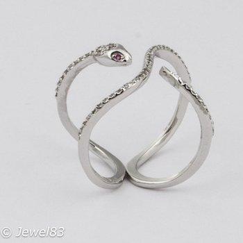 925e Snake ring