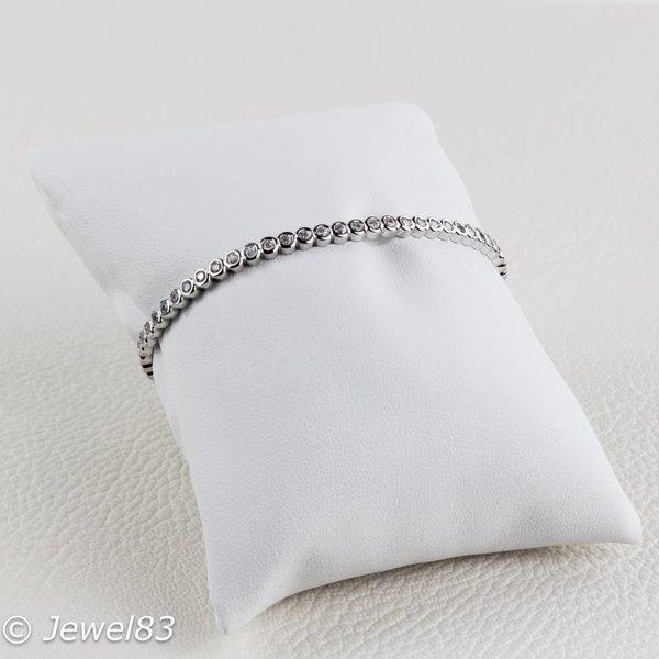 925e Shiny CZ cuff