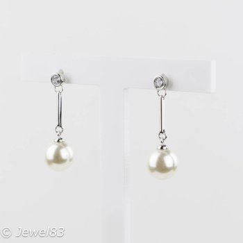 Fiell Zirconia pearl earrings