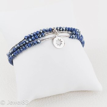 Sweet 7 Shiny blue bracelet set