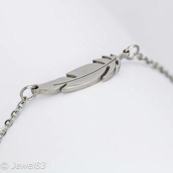 DODI Silver feather bracelet