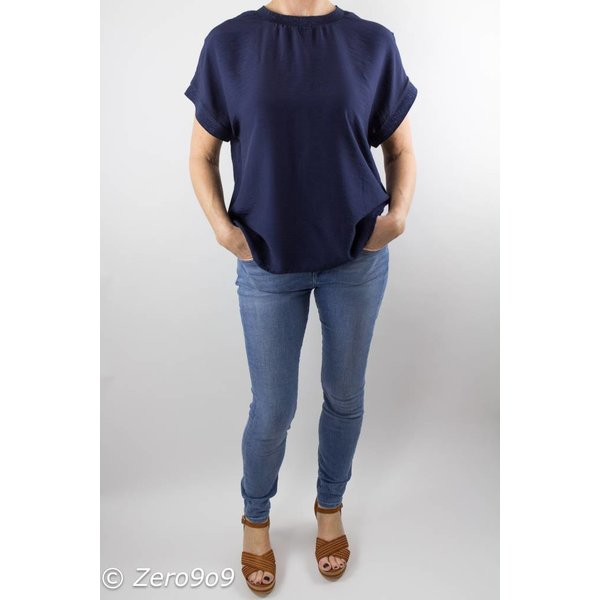CO'COUTURE Navy norma top (L)