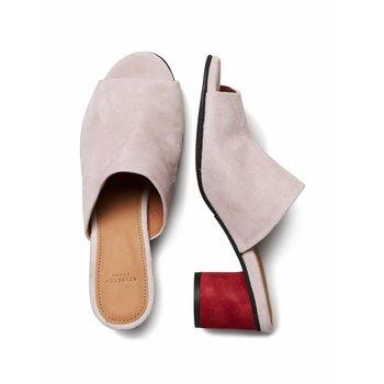 Selected Suede round heel mule