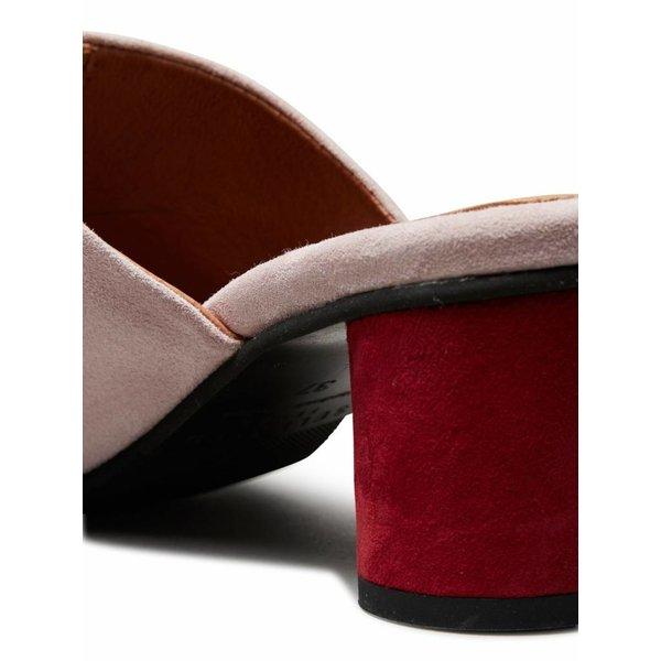 Selected Suede round heel mule (40)
