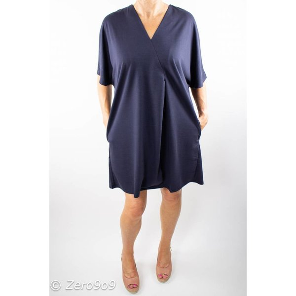French Connection V-neck jersey dress (L)