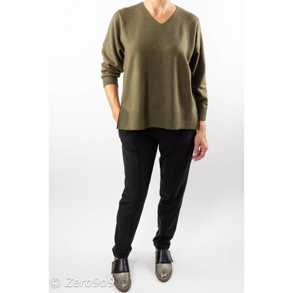 French Connection Khaki Vneck sweater