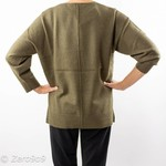 French Connection Khaki Vneck sweater (S)