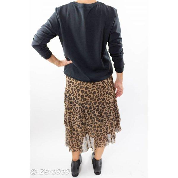 CO'COUTURE Animal glitter mesh skirt