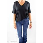 Selected Black V-neck T-shirt