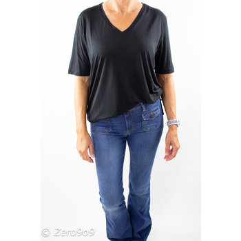 Selected Black V-neck T-shirt