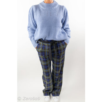 CO'COUTURE MARDI CHECK PANT (L)
