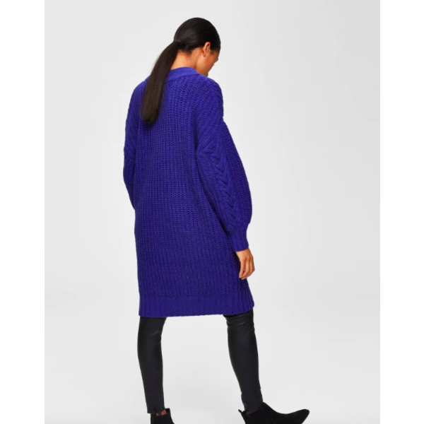 Selected Louis cable knit dress