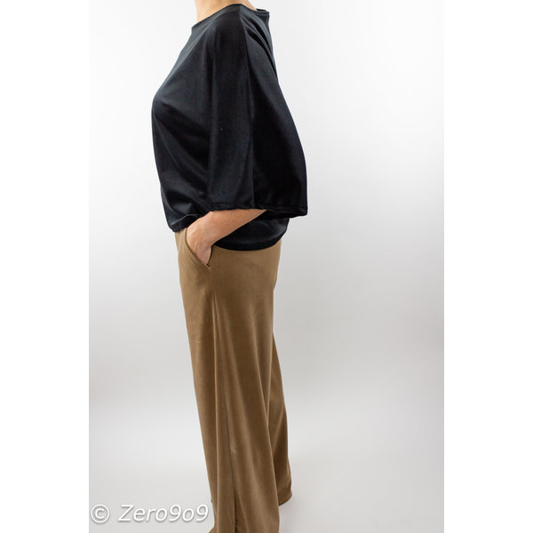 Accento Beige lilou velvet pants (M)
