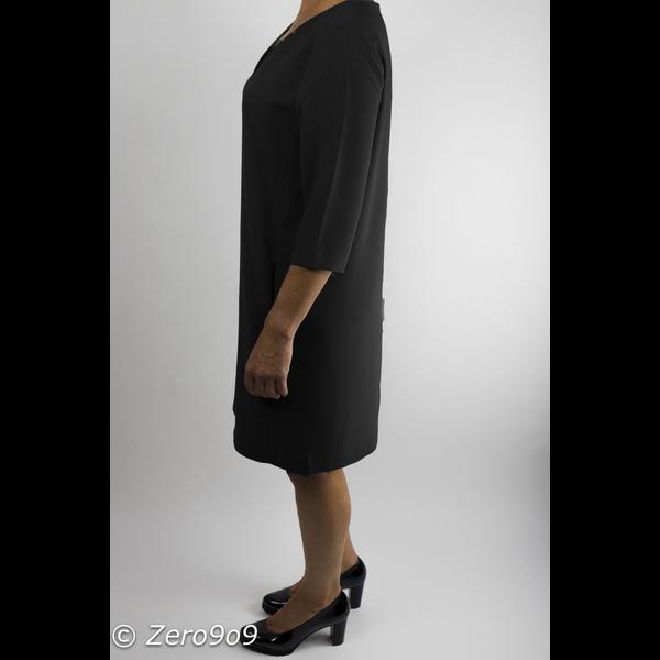 Selected 3/4 sleeve dress Black