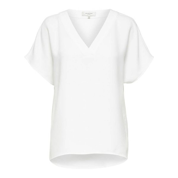 Selected V-neck top (42)