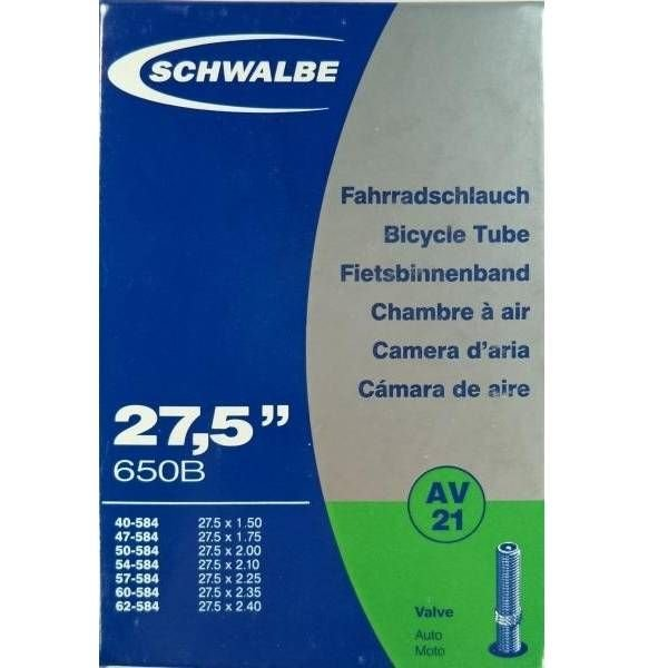 Schwalbe Binnenband Schwalbe AV21 27.5 inch Auto Ventiel / Schrader