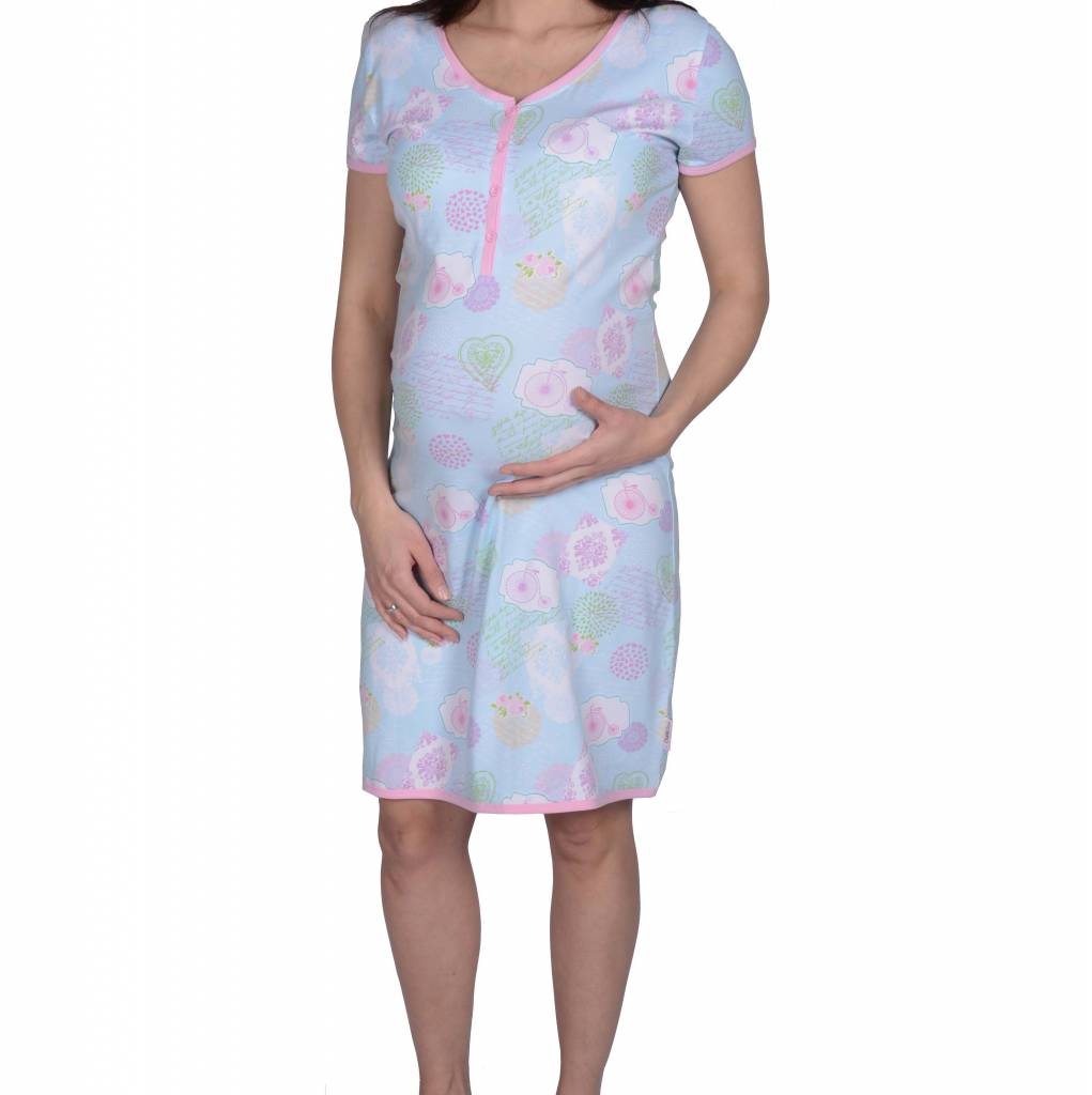 MILLION BICYCLES SHORT SLEEVE DRESS NURSING | 512204143