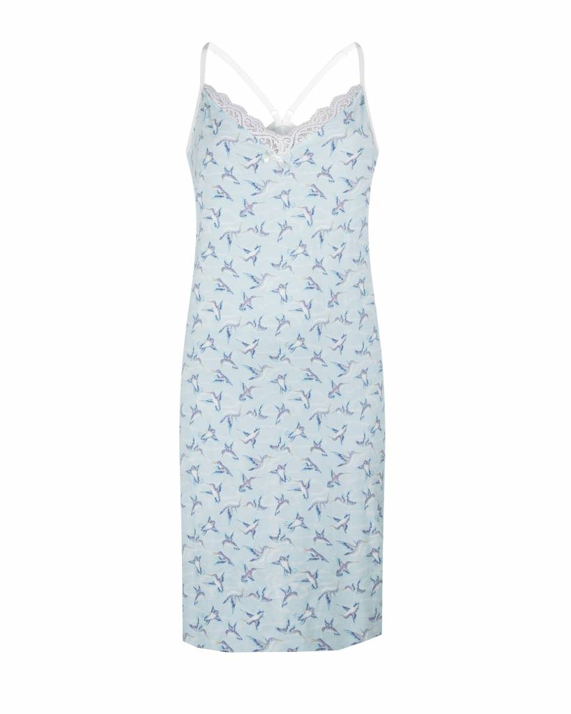 Dames slipdress Blue Hummingbird | Charlie Choe | 38Y-27851