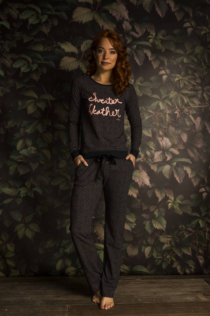 Ladies Pyjama Shirt Forest Dots | Pullover | Charlie Choe