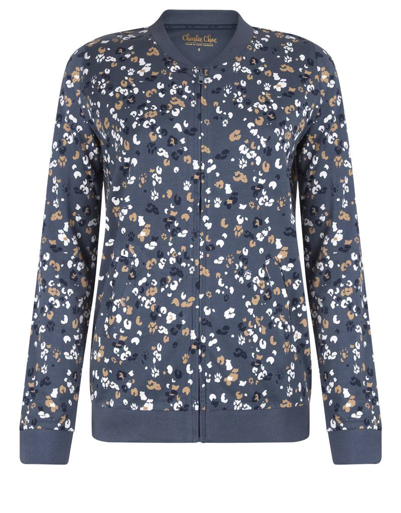 Damen Cardigan Animal Trail | Homewear | Charlie Choe