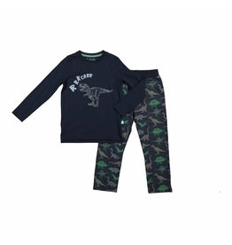 Pyjama Set Blue Dino - glow in the dark!