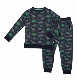 Pyjama  Lounge Set Blue Dino - all over print