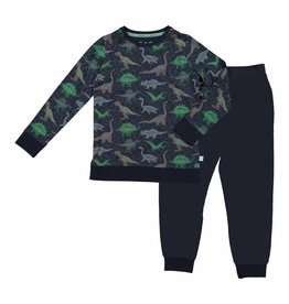 Pyjama  Lounge Set Blue Dino