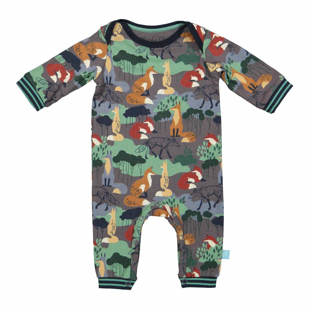 Baby Jumpsuit Foxes | Charlie Choe