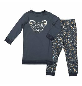 Pyjama Long Pullover Set Animal Trail