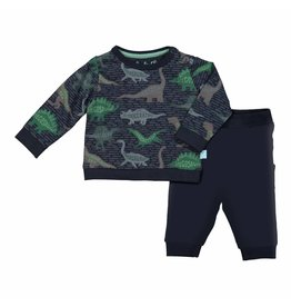 Baby Pyjama Lounge Set Blue Dino