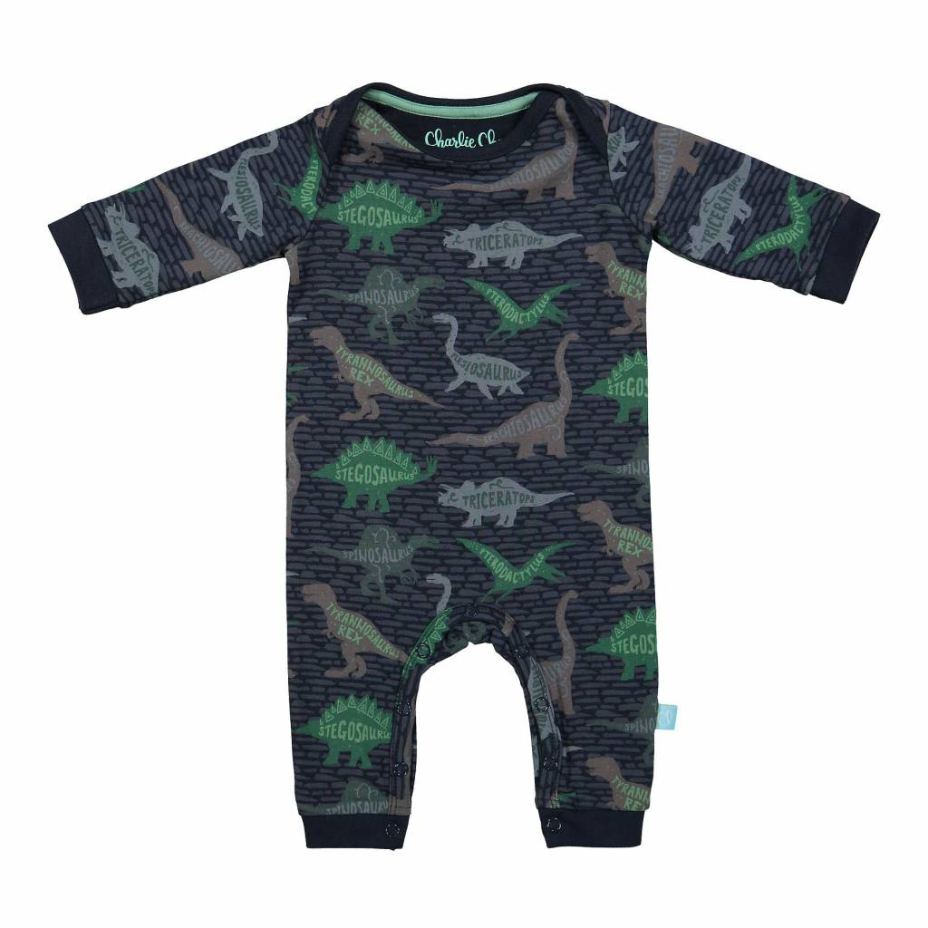 Baby Jumpsuit Blue Dino | Charlie Choe | 42Z-28913