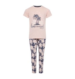 Pyjama Homewear Set Pretty Pink Palmtrees