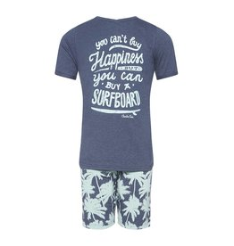 Pyjama Short Set Palms and Waves