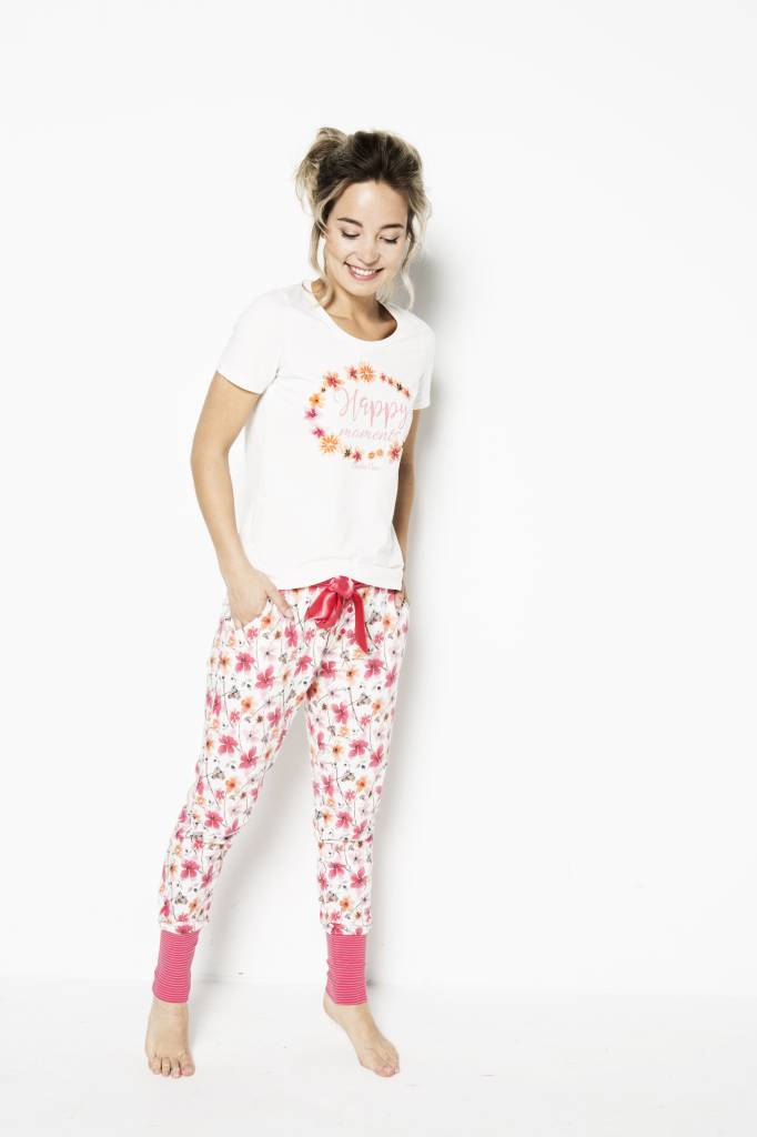 Dames Pyjama T-shirt Happy Moments | 38A-31100