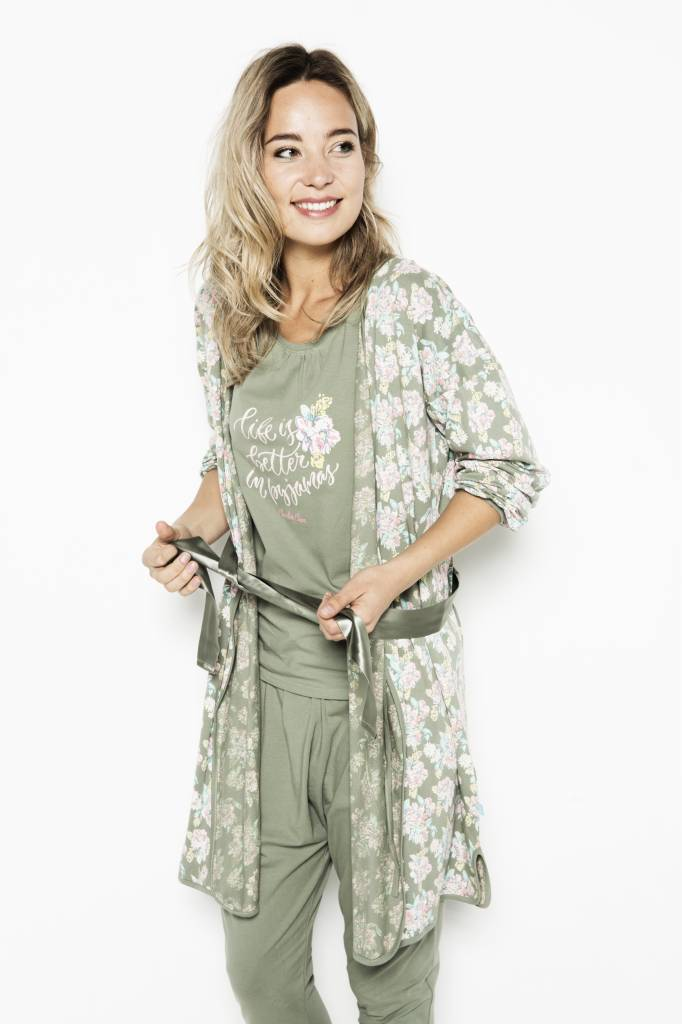 Women's Bathrobe Wild Flowers | 38A-31137