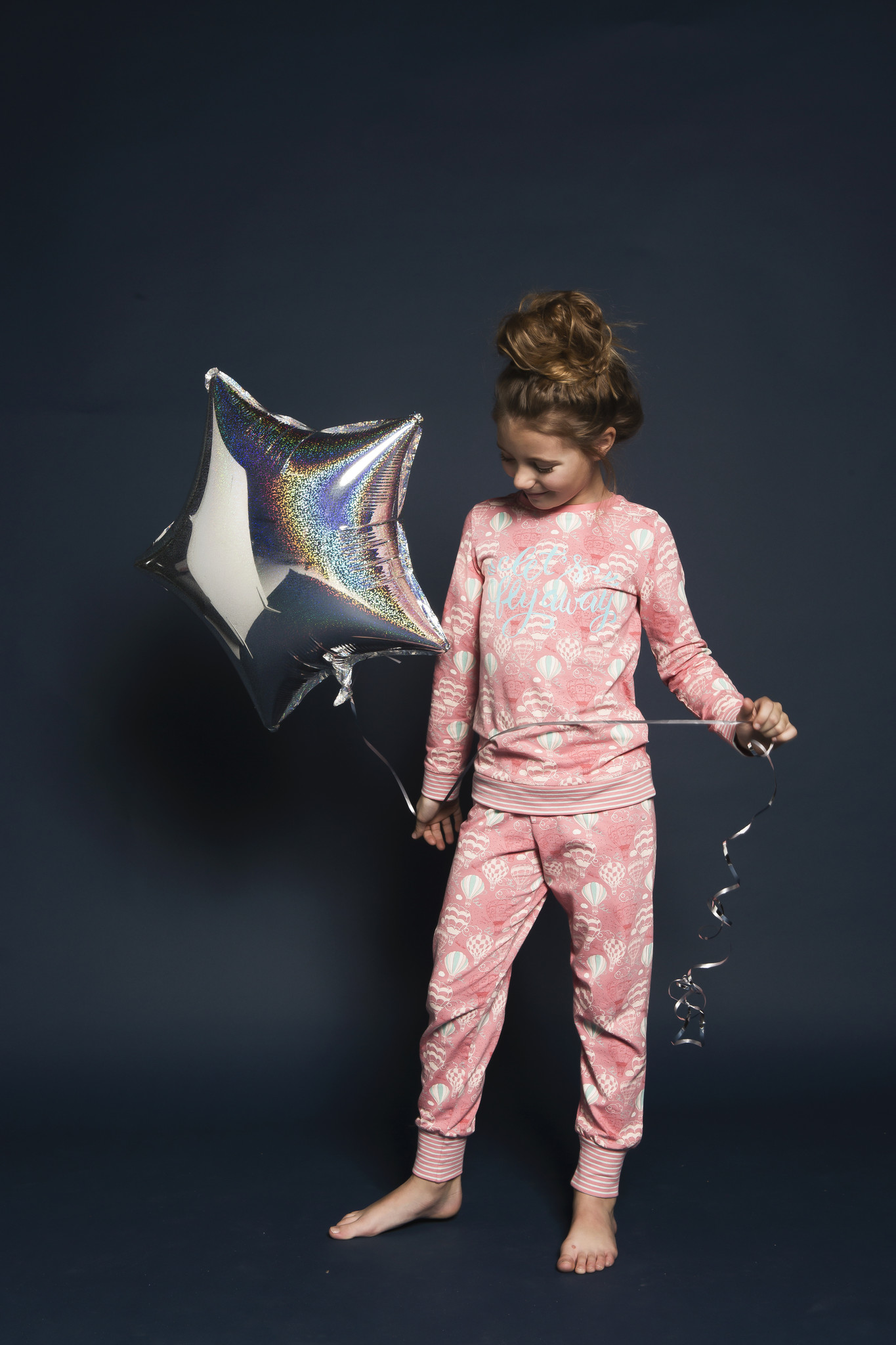 Mädchen Pyjama Lounge Set Eat Sleep Dance Repeat -  Ballon | 41B-33025