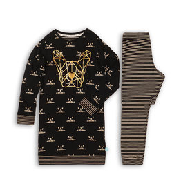 Pyjama Long Pullover Set Oui-Familie Thema