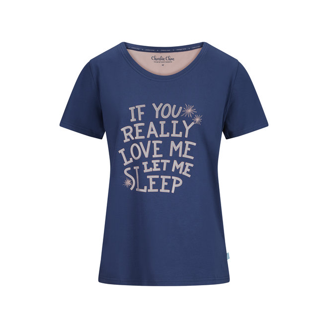 Dames Pyjama T-shirt The Only One in the Sea