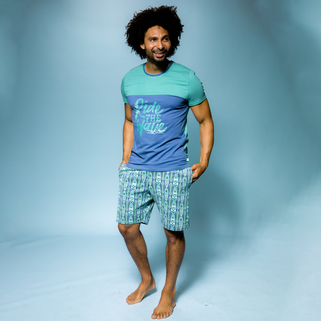 Herren Pyjama T-shirt Surf's Up