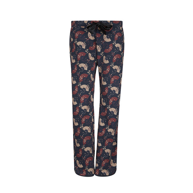 Damen Pyjamahose Happy Life Fächer